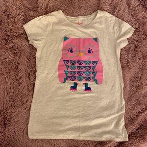 Girls Owl T-shirt XL